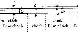 Diễn âm Rumba trống jazz