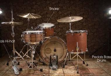Các bộ phận của dàn trống Jazz